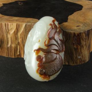 白玉籽料-金玉满堂
