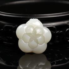 白玉掛件-蓮花