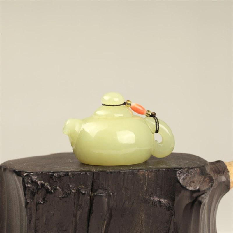 黄玉把件-玉壶