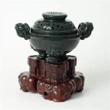 青玉镂雕 — 香炉