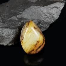 白玉棗紅皮子料原石
