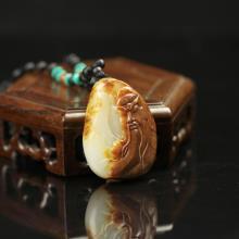 白玉籽料挂件-关公