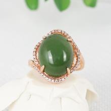 金镶玉碧玉 — 戒指