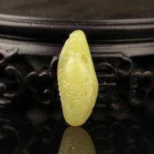黄玉挂件-鱼