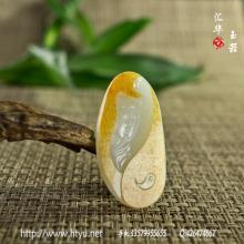 白玉籽料挂件 — 观音