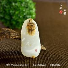 白玉籽料挂件 — 佛祖