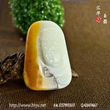 白玉籽料把件 — 佛祖