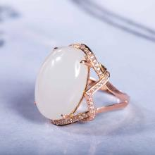 18K金羊脂玉-戒指