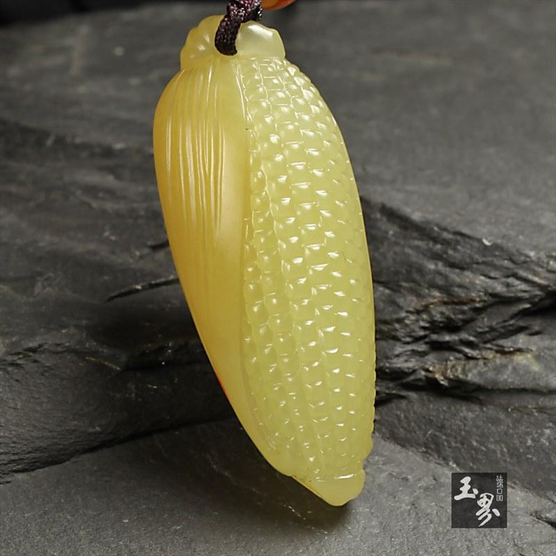 黄玉挂件-金皮小玉米