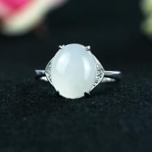 银镶玉-白玉戒指-3.8