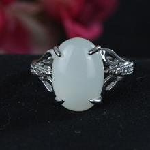 银镶玉-白玉戒指-3