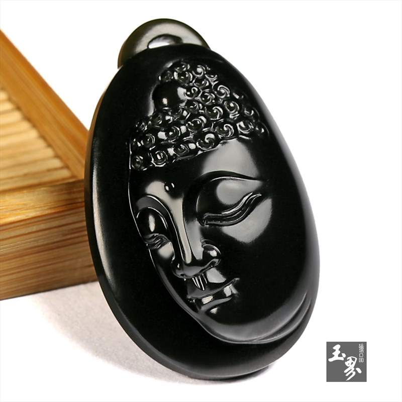 (黑)青玉籽料-佛祖牌