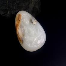 白玉籽料掛件     觀音