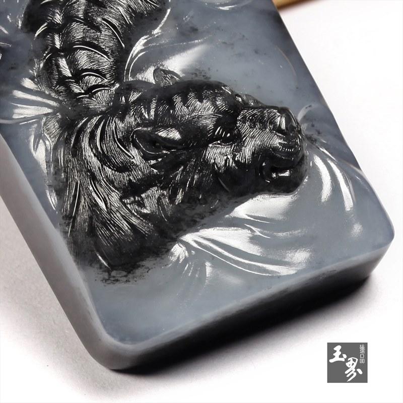 墨玉子料牌-涉江虎-4