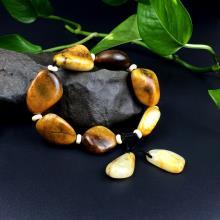 新疆和田玉黃玉原石籽料手鏈