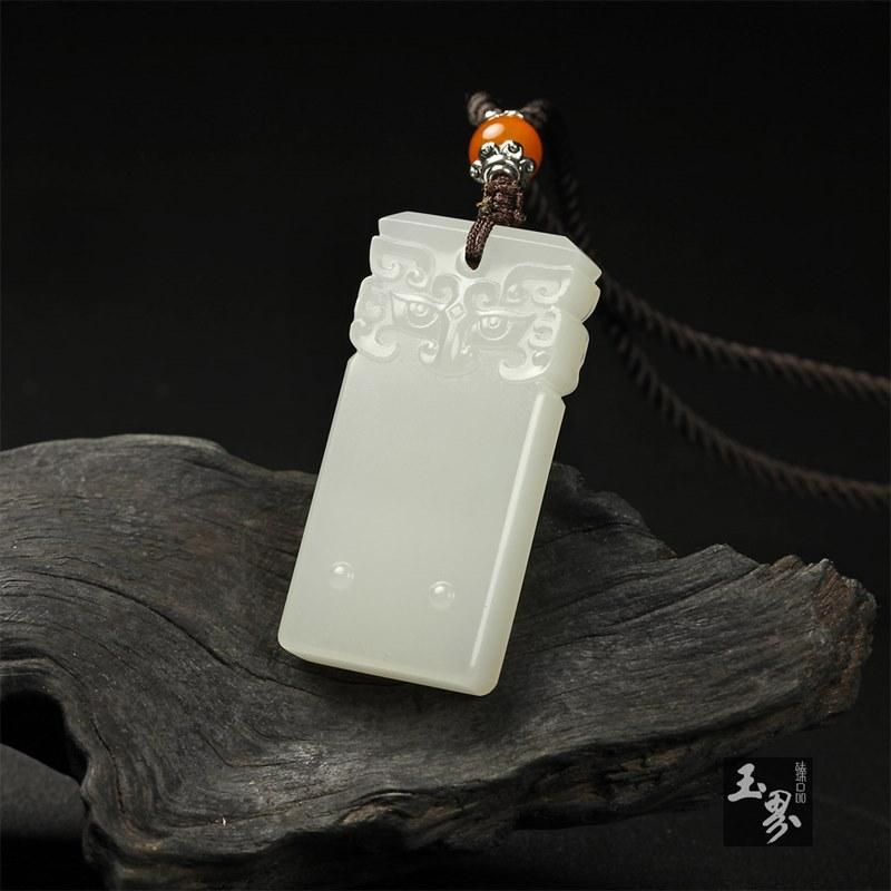 白玉-瑞兽守护牌-4