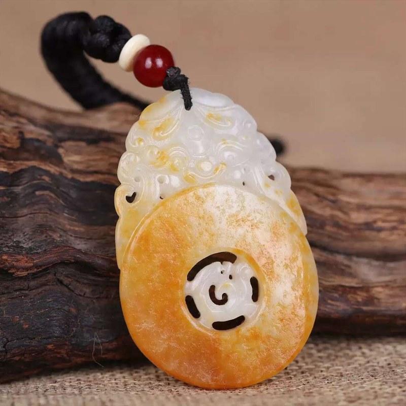 白玉籽料-龙虎佩