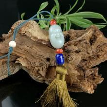 白玉籽料  罗汉车挂(清仓)