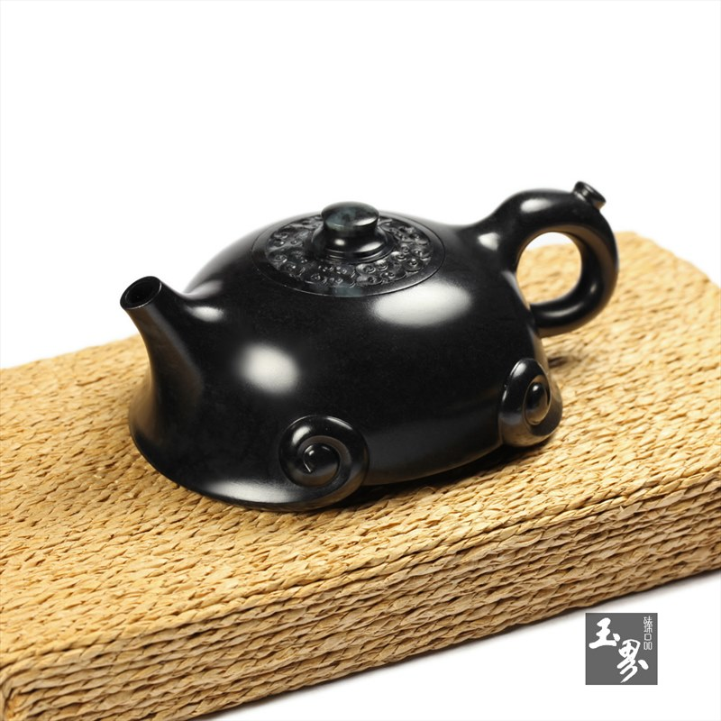 墨玉-祥云如意壶-2