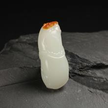 白玉挂件-祝福