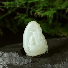 白玉籽料挂件 大展宏图