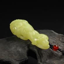 黄玉挂件-旺财