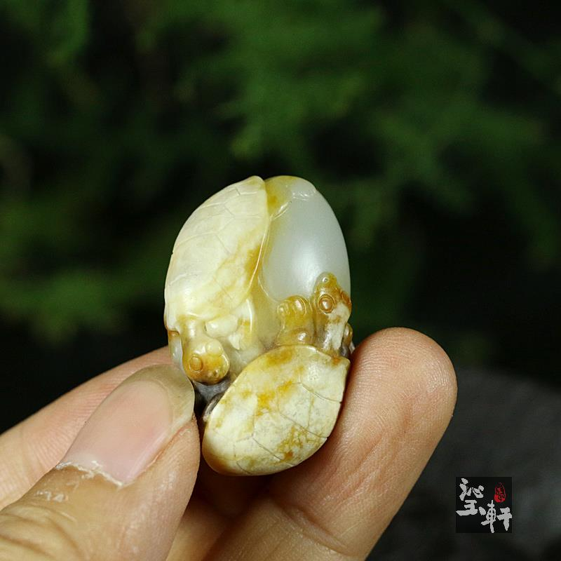 白玉籽料挂件 寿与天齐(特惠)