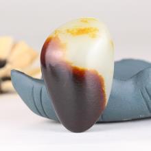 极品收藏和田玉籽料枣红皮原石 52.4克
