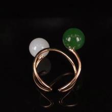 18K金鑲玉戒指