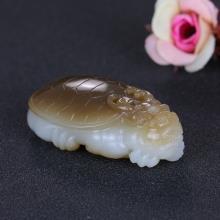 和田玉糖羊脂玉龙龟53.317g
