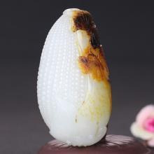 和田玉籽料多子多福手把件125.8g
