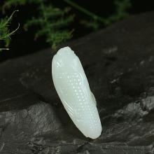 白玉籽料挂件-多子多福