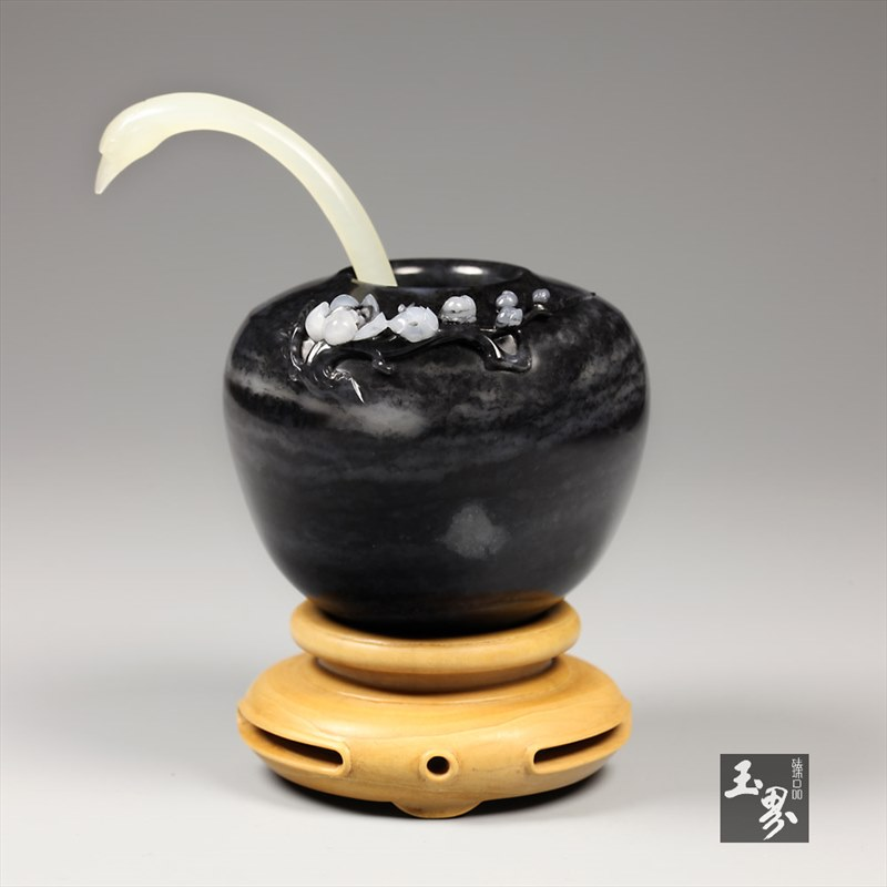 墨玉子料-暗香水丞