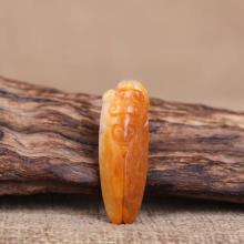 和田玉籽料掛件-一鳴驚人