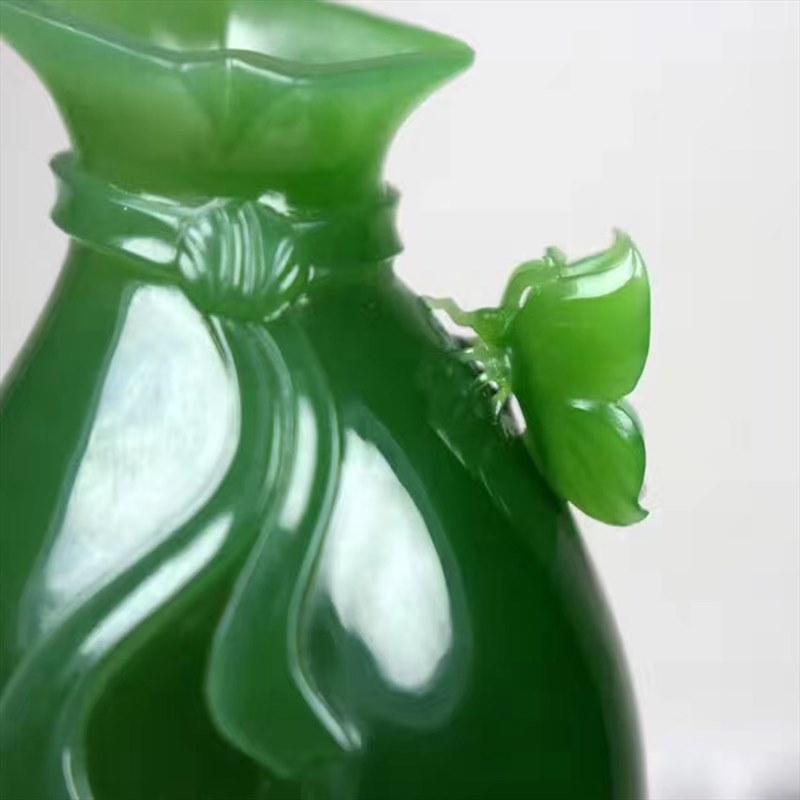 和田玉碧玉-花瓶
