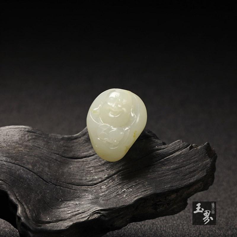 白玉籽料-弥勒佛挂件