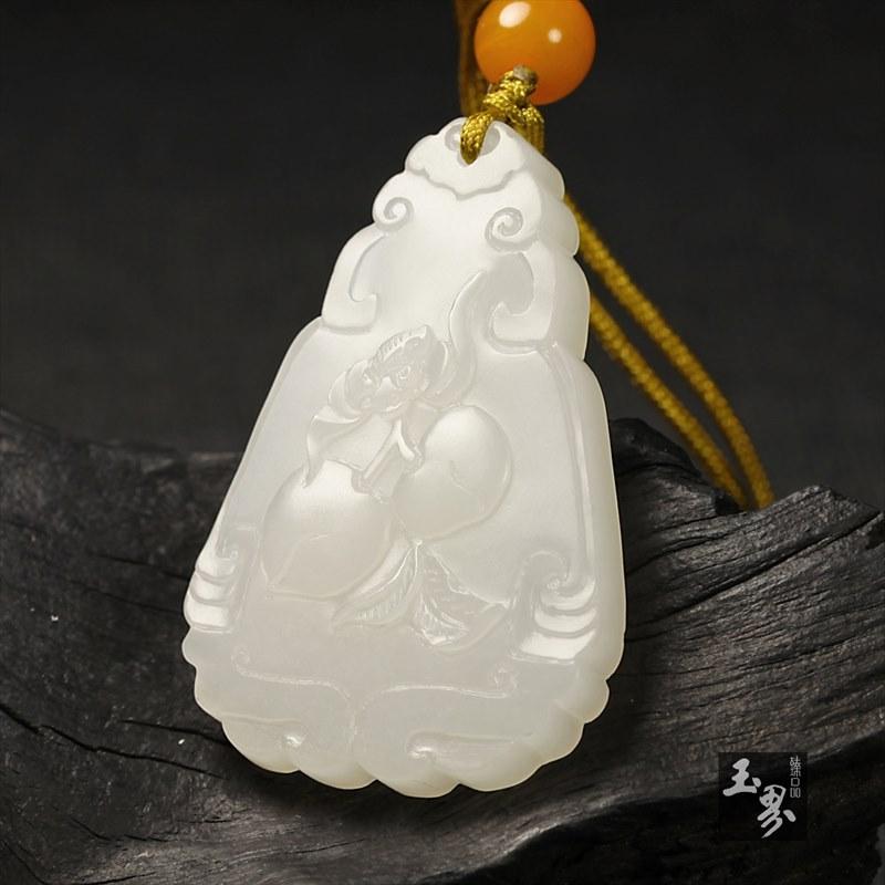 白玉牌-福寿双全