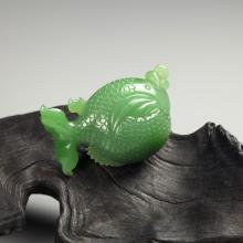 碧玉挂件-小河豚