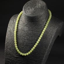 黄玉-素珠项链
