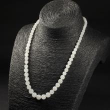 羊脂白玉-圆珠(塔珠)项链