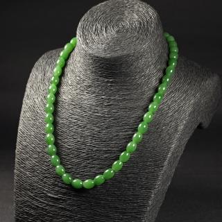 碧玉-橢圓素珠項鏈