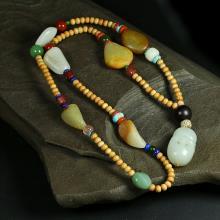 新疆和田原石项链