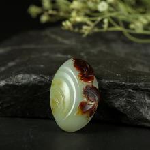 紅皮青白玉子料掛件-金玉滿堂(特惠)