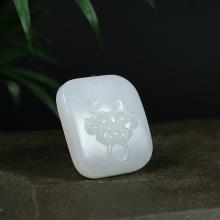 羊脂白玉挂件-辟邪(不议价)
