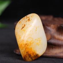 和田籽料黃皮白玉獨籽原石