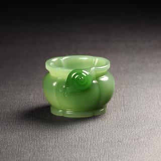 碧玉-蝸牛海棠香爐