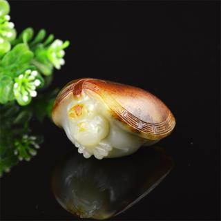 和田玉白玉籽料 龙龟