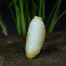 新疆且末糖白玉挂件-玉米(不议价)