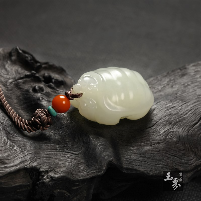 白玉挂件-长寿富贵-3