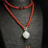 白玉子料、红玛瑙-福临项链
